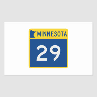 Minnesota Trunk Highway 29 Rectangular Sticker