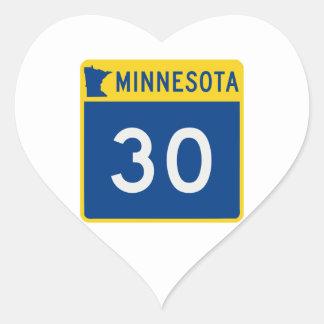 Minnesota Trunk Highway 30 Heart Sticker