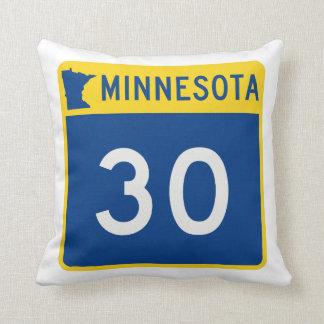 Minnesota Trunk Highway 30 Throw Pillow