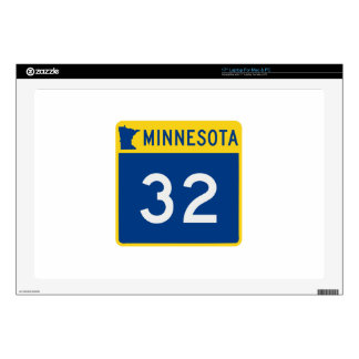 "Minnesota Trunk Highway 32 Decals For 17"" Laptops"