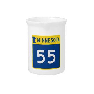 Minnesota Trunk Highway 55 Drink Pitchers