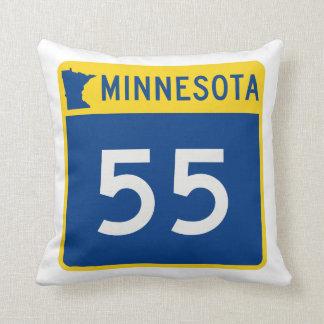 Minnesota Trunk Highway 55 Throw Pillow