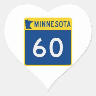 Minnesota Trunk Highway 60 Heart Sticker