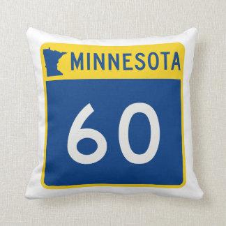 Minnesota Trunk Highway 60 Throw Pillow