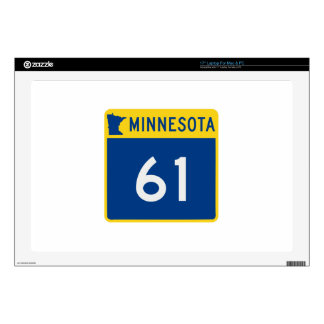 "Minnesota Trunk Highway 61 17"" Laptop Decal"