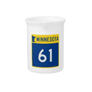 Minnesota Trunk Highway 61 Beverage Pitcher