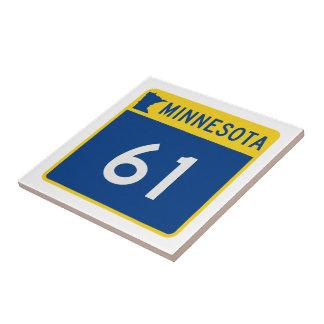 Minnesota Trunk Highway 61 Ceramic Tile