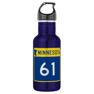 Minnesota Trunk Highway 61 Stainless Steel Water Bottle