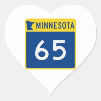 Minnesota Trunk Highway 65 Heart Sticker