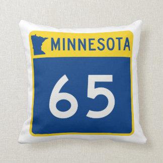 Minnesota Trunk Highway 65 Throw Pillow