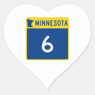 Minnesota Trunk Highway 6 Heart Sticker