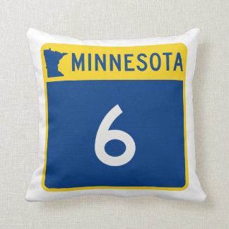 Minnesota Trunk Highway 6 Throw Pillow