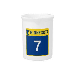 Minnesota Trunk Highway 7 Beverage Pitcher