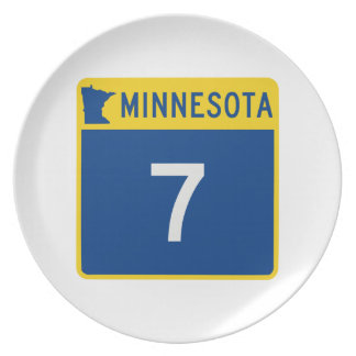 Minnesota Trunk Highway 7 Dinner Plate