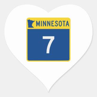 Minnesota Trunk Highway 7 Heart Sticker