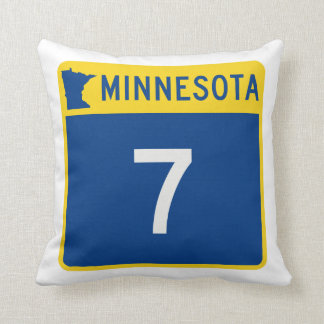 Minnesota Trunk Highway 7 Throw Pillow