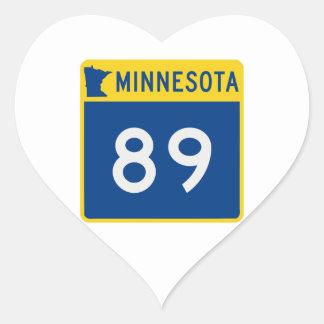 Minnesota Trunk Highway 89 Heart Sticker