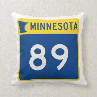 Minnesota Trunk Highway 89 Throw Pillow