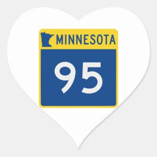 Minnesota Trunk Highway 95 Heart Sticker