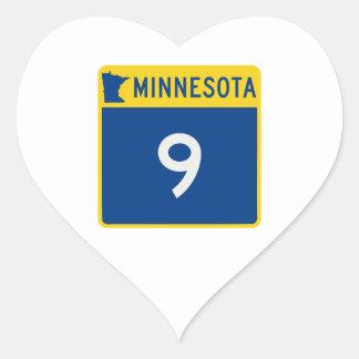 Minnesota Trunk Highway 9 Heart Sticker