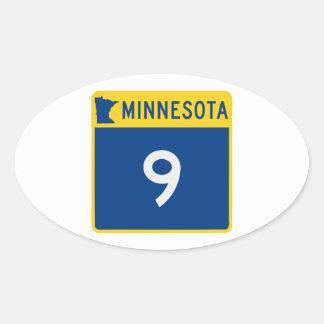 Minnesota Trunk Highway 9 Oval Sticker