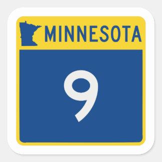 Minnesota Trunk Highway 9 Square Sticker