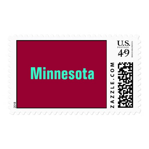 Minnesota UNITED STATES POSTAGE STAMP BY WASTELAND