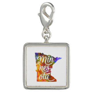 Minnesota US State in watercolor text cut out Dijes