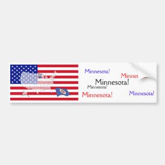 Minnesota, USA Bumper Sticker