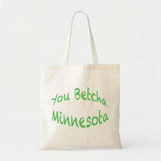 Minnesota usted tote de Betcha Bolsa Tela Barata