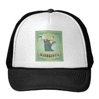 Minnesota Vintage State Map – Green Trucker Hat