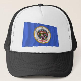 Minnesota Waving Flag Trucker Hat