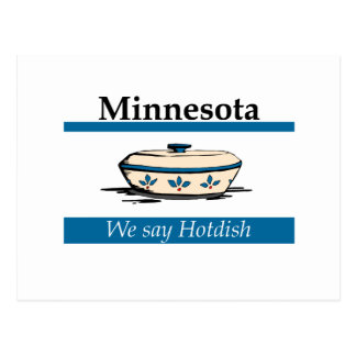 Minnesota: We Say Hotdish Postcard