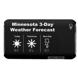 Minnesota Weather Forecast Barely There iPod Cases