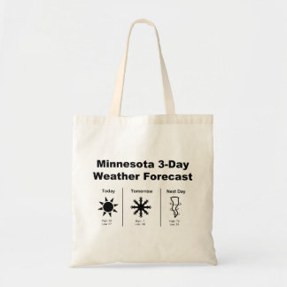Minnesota Weather Forecast Tote Bag