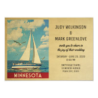 Minnesota Wedding Invitation Sailboat