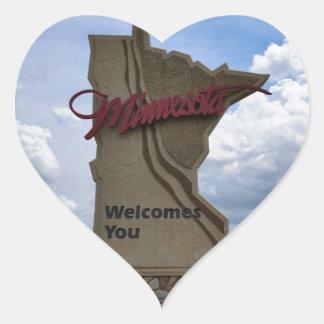 Minnesota Welcomes You Heart Sticker