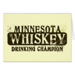 Minnesota Whiskey Drinking Champion Greeting Card