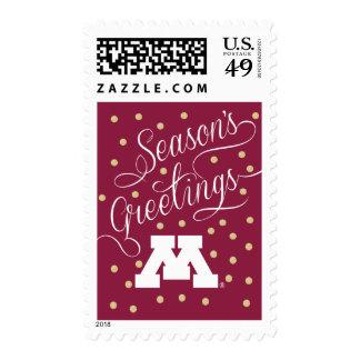 Minnesota White M Stamp