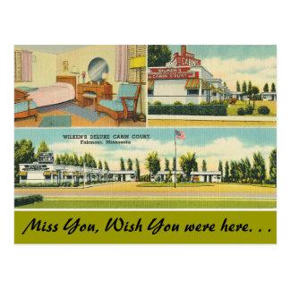 Minnesota, Wilken's Deluxe Cabin Court Postcard