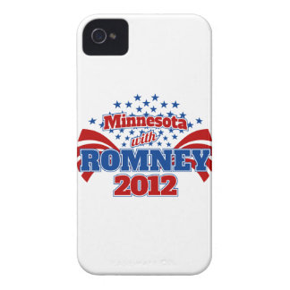 Minnesota with Romney 2012 Case-Mate iPhone 4 Cases