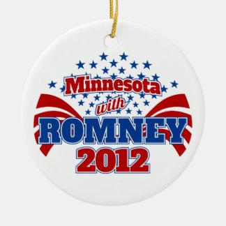 Minnesota with Romney 2012 Ceramic Ornament