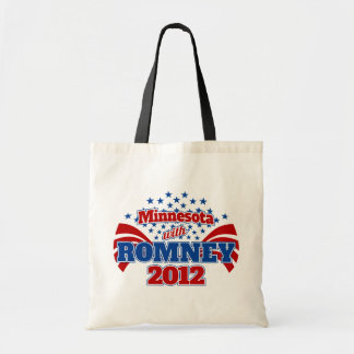 Minnesota with Romney 2012 Tote Bag