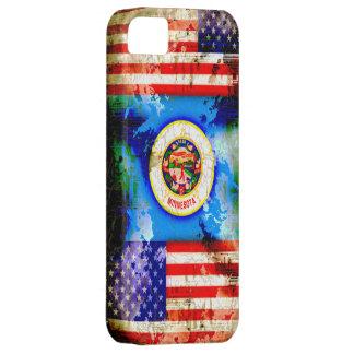 Minnesota y banderas del estilo del Grunge de los iPhone 5 Carcasas