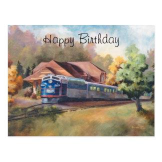 Minnesota Zephyr Train Birthday Postcard