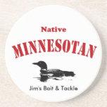 Minnesotan nativo - mensaje de encargo posavasos diseño