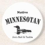 Minnesotan nativo - mensaje de encargo posavasos manualidades