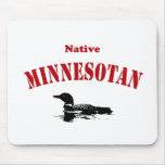 Minnesotan nativo tapetes de ratón