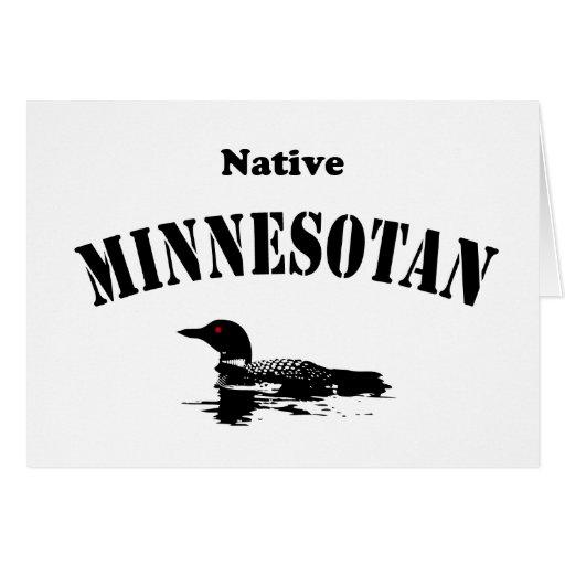 Minnesotan nativo tarjeta de felicitación