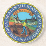 Minnesotan State Seal Coaster